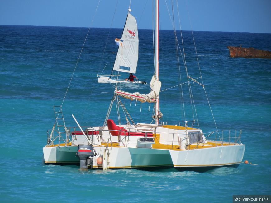 На таком пароходике Вас готовы вывести на рыбалку. За рифы.