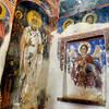В церкви святого Николая под крышей St. Nikolaos Tis Steigis. Экскурсия по святым православным местам Кипра