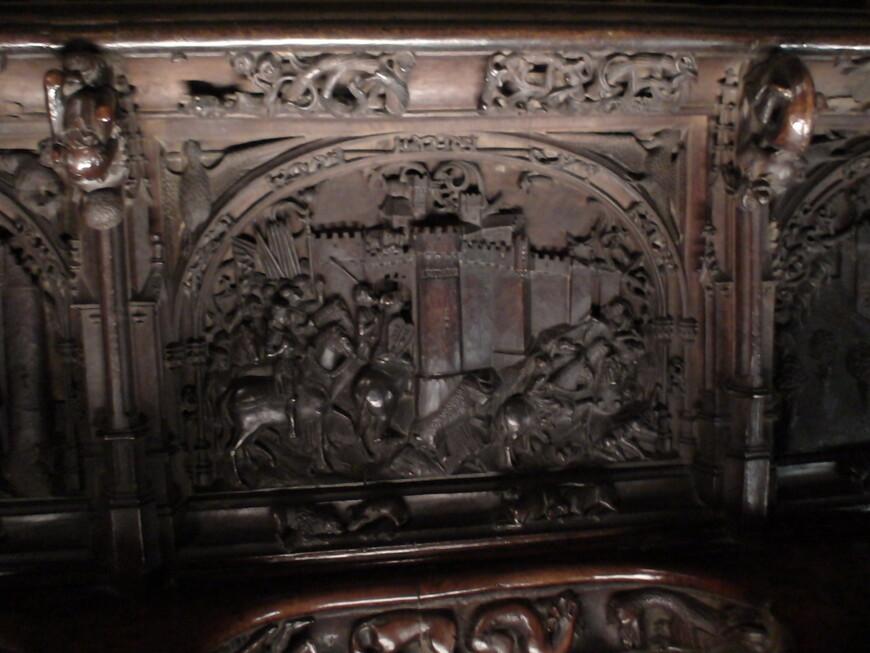 Сцены, изображающие вехи реконкисты (отвоевания испанских земель)