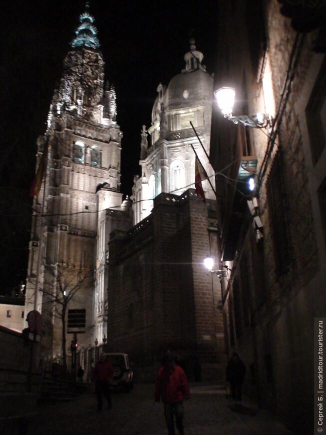 Подсветка собора вечером