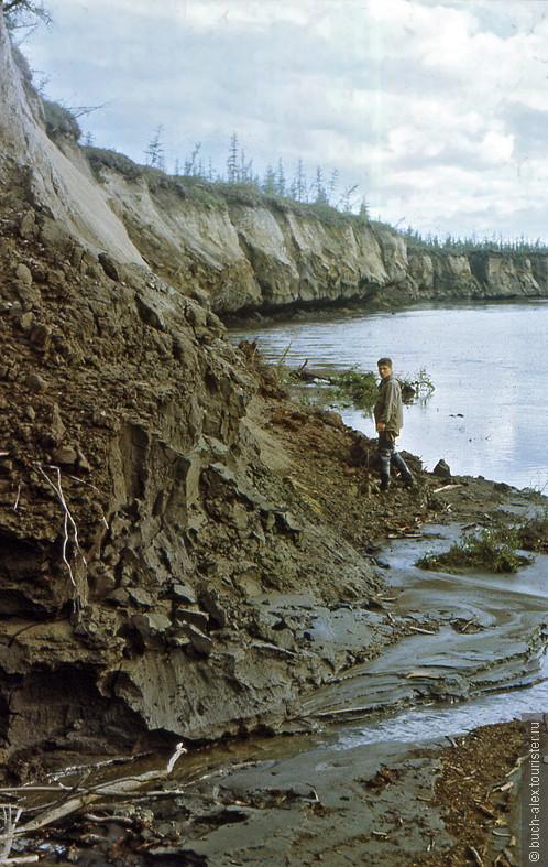 Едома (едомный комплекс) — элемент рельефа субарктических равнин Восточной Сибири — небольшие возвышенности (большой обычно каменный холм), содержащие погребённый ископаемый лёд и имеющие мелкобугристую поверхность; также собственно вечная мерзлота этого типа рельефа. И тут самое интересное. Ископаемый лед оттаивая сползает в реку, на берегу реки и в отвалах можно искать кости древних животный и конечно бивни мамонтов. Мы находили!