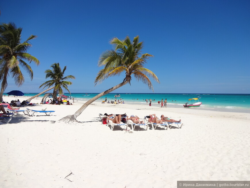 Райский пляж в Тулуме. Вопреки расхожему мнению, он находится не у самих руин, но примерно в полукилометре от них