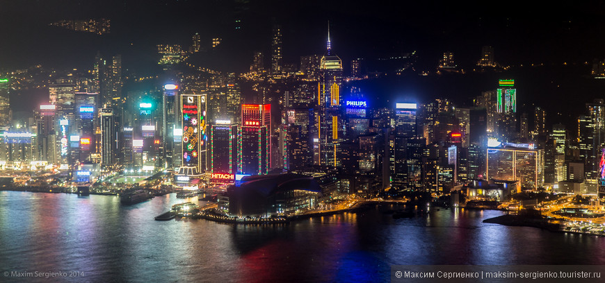 Вид с смотровой площадки iSky100. 100 этаж.