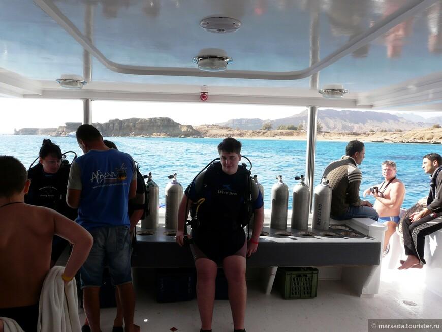 ну собственно за этим и приехали - первый опыт у Игрика по осваиванию подводного пространства