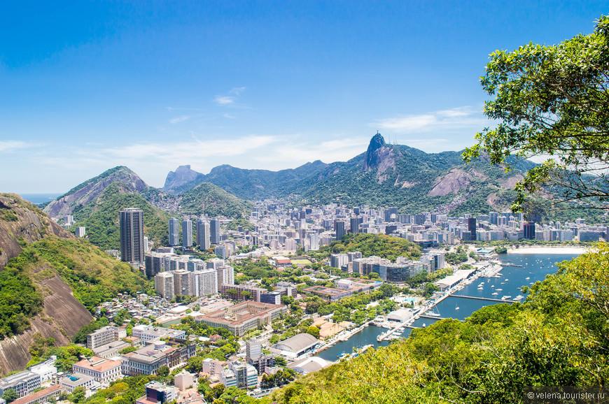вид на Рио с горы Сахарная голова