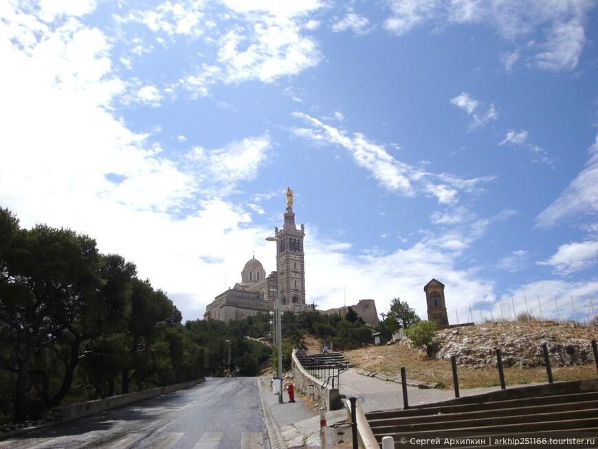 Это главная достопримечательность Марселя - Базилика Нотр-Дам де ля Гард