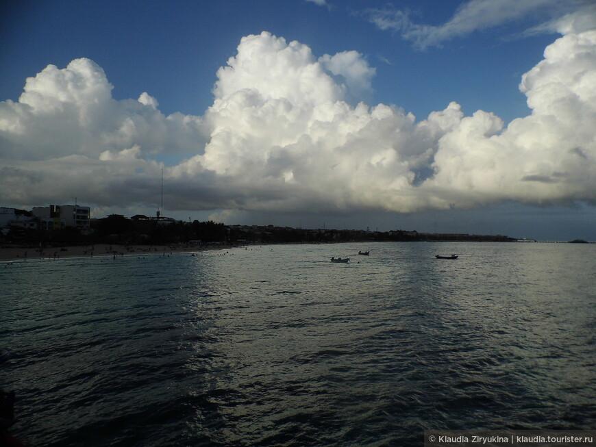 На обратном пути какие-то кучевые облака набежали!