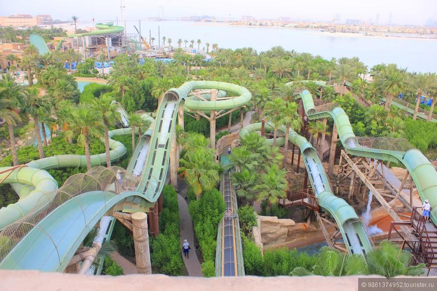 В Эмиратах такие горки, на которых снизу вверх поднимаешься с потоком воды....
