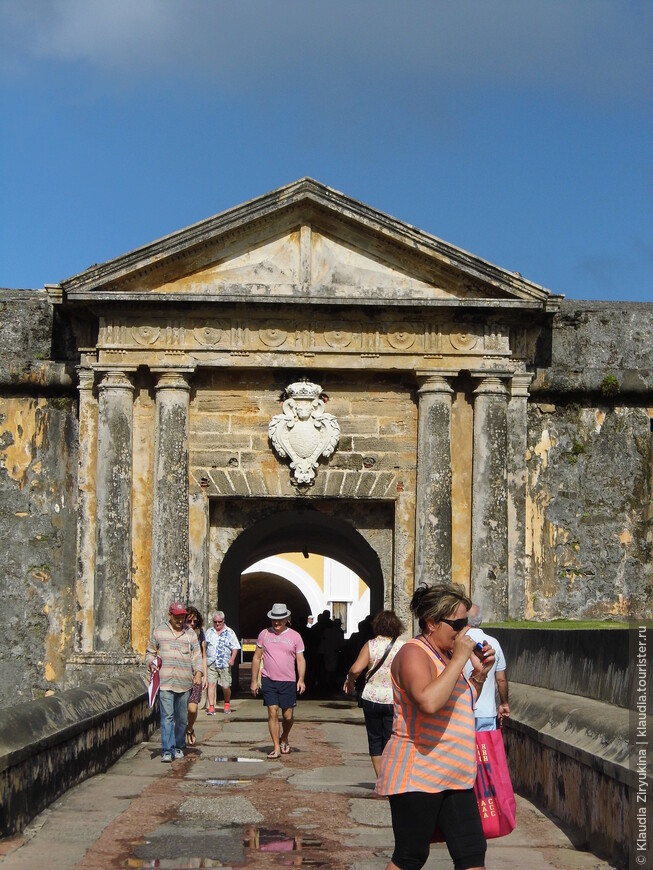 Вход в форт Сан-Фелипе-дель-Морро.