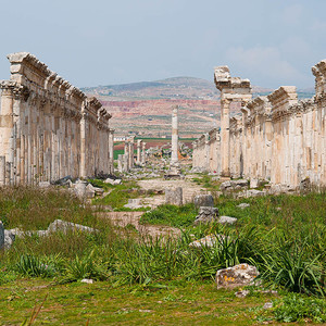 Сирия: руины древнего города Апамея