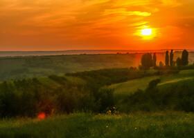 Молдова на закате