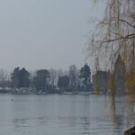 А озеро еще в тумане...