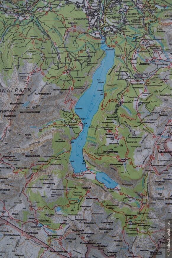 Сначала мы посмотрели на озёра на карте.