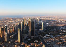 Шикарный вид с Burj Khalifa