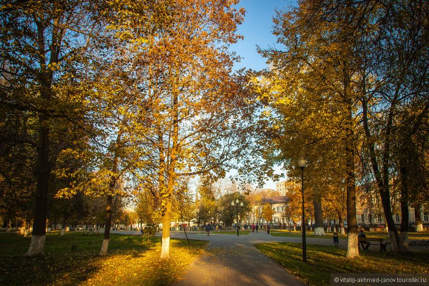 Городской Кремлёвский сад г. Тулы расположен между Менделеевской улицей и Садовым переулком, возле стен и башен Тульского Кремля. Сад появился в 1847 году после грандиозного пожара 1834 г., когда почти вся Тула выгорела.