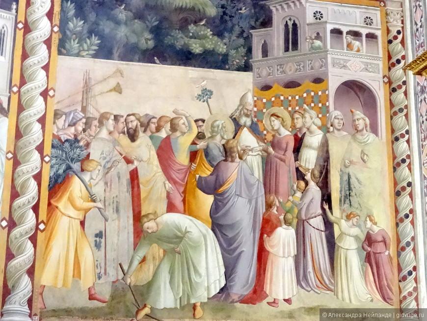 Бесконечная вереница сюжетов на фресках