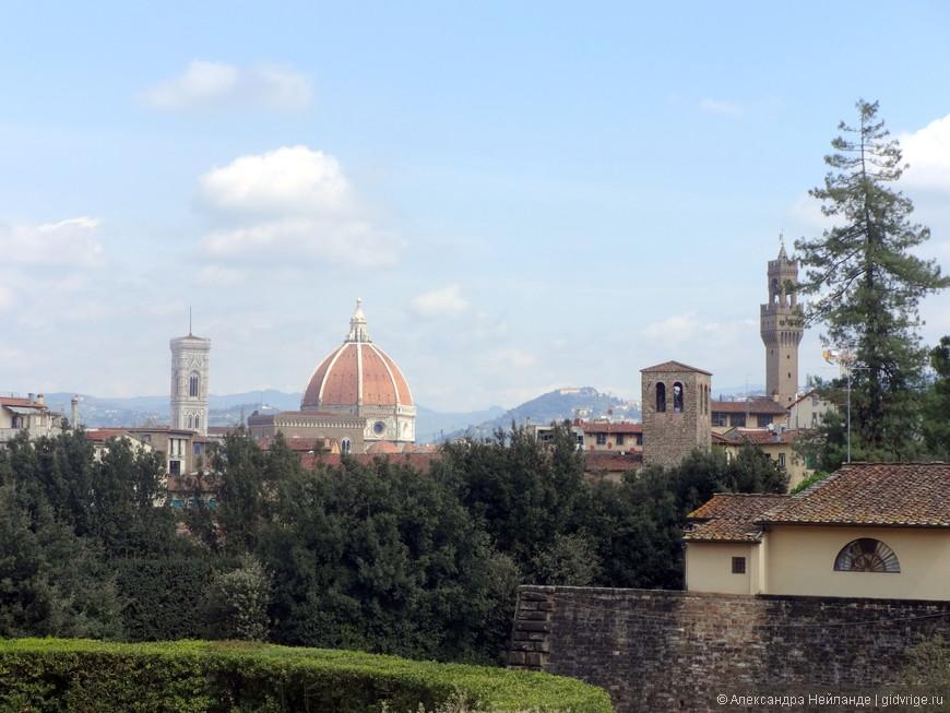 Вид на Флоренцию с садов Боболи