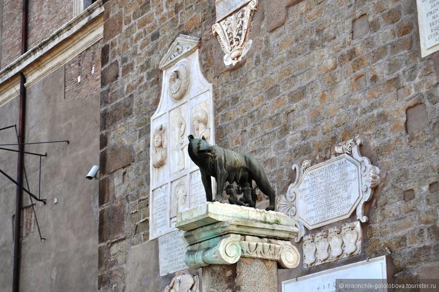 Символ города.  Копиталийская волчица.