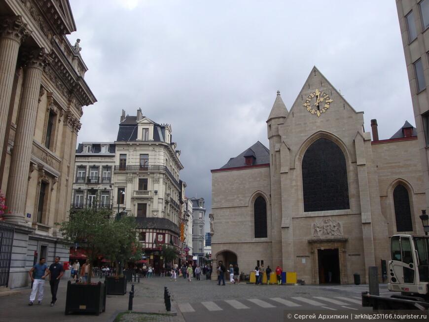 В историческом центре Брюсселя