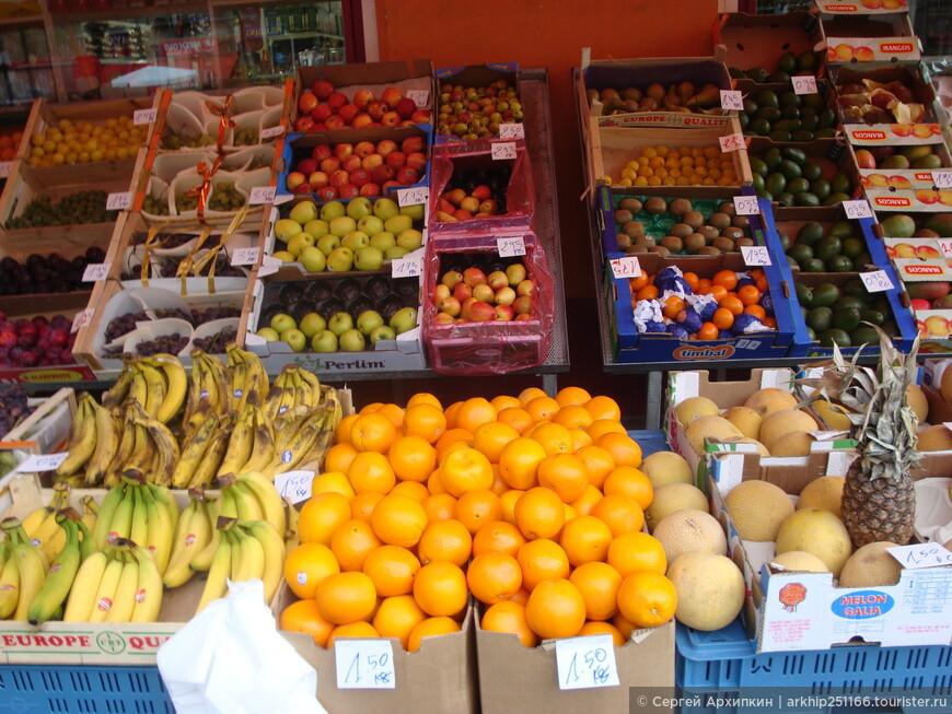 Цены на фрукты в Брюсселе в июле в евро за 1 килограмм