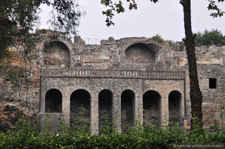 Одна из самых сохранившихся частей Помпей
