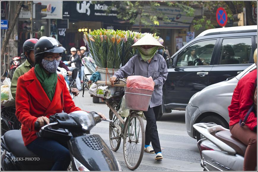 Цветоводов мы уже видели в первой прогулке по городу. Смотрятся они очень колоритно...