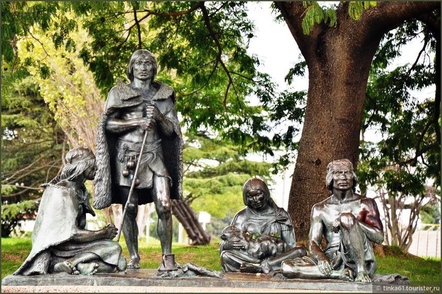 Памятник местным племенам индейцев чарруас.