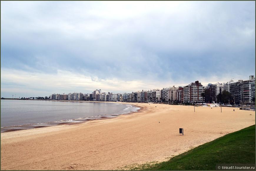 Пляж Pocitos.