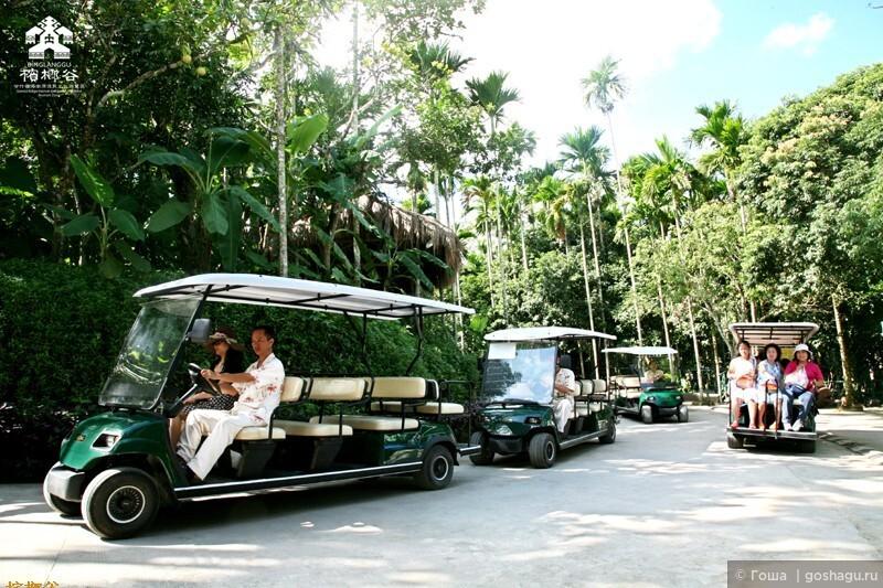 электромобиль для туристов.