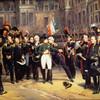 Прощание Наполеона с армией во дворе Фонтенбло.