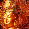 Золотая будда Богиня сделана из 140 кг. чистого золота, украшена драгоценными камнями