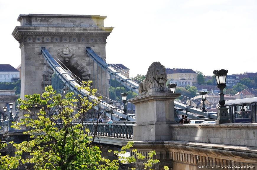 Цепной мост. Одна из главных достопримечательностей города.