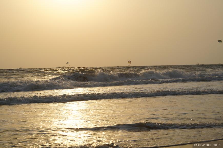 Очень красив океан на закате...