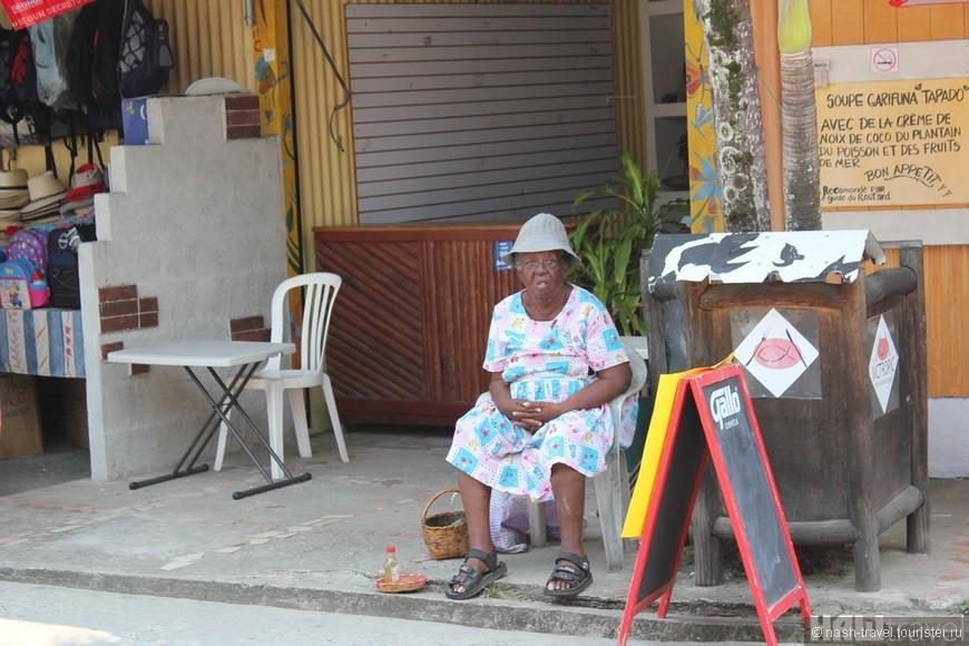 Местная бабулька гарифуна