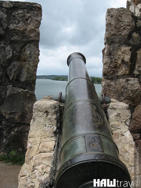 Оригинальные английские пушки с пиратских кораблей