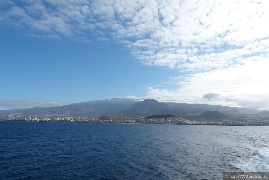 Вдали остров Тенерифе. Канарские острова.