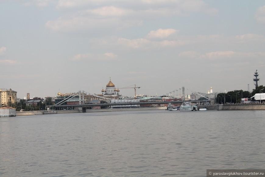 Вид на центр Москвы.