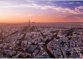 Вид с башни Монпарнас на закате