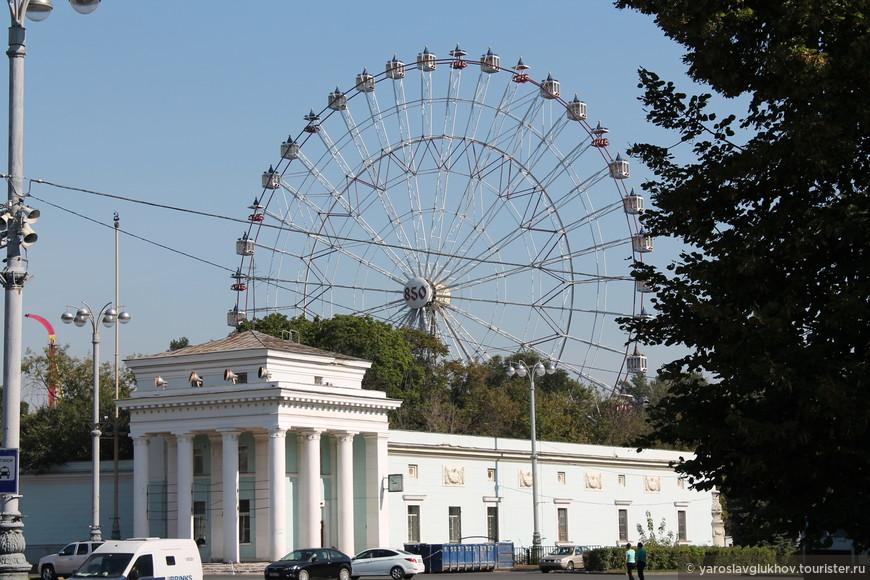 Колесо обозрения в честь 850-летия Москвы.