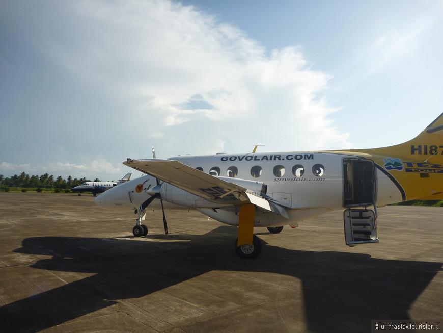 Вот на этом самолёте летали на полуостров Самана.