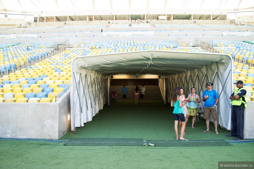 Во время прохождения по этому коридору из динамиков раздается мощный рев болельщиков. Представляю, что здесь творится во время матчей!