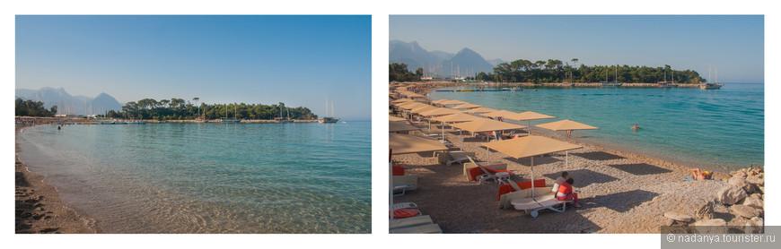 В Кемере есть очень красивый, удобный песчаный пляж в бухте.