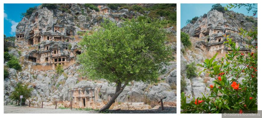 Гробницы очень интересные. Пролезать к ним не рекомендуется, но есть смельчаки)))Вообще это Скальный некрополь, вырубленный древними ликийцами в в скале.