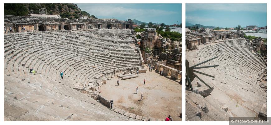 Остатки древнего амфитеатра.