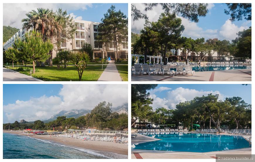 В апреле мы с подругой и мамой выбрали отель Magestik club la mer art в поселке Гейнюк. Он находится в км 8 от Кемера и где-то в 35 от Анталии. Приятный климат, горы, сосны. Пляж- мелкая галька.