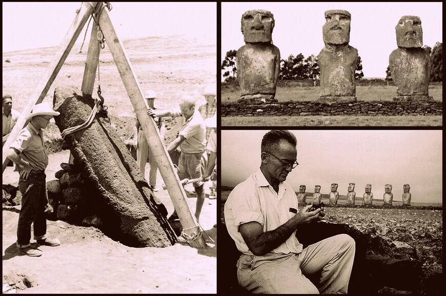 Эту платформу в 1960-м году с подачи Тура Хейердала несколько месяцев восстанавливал американский антрололог Уильям Муллой и его чилийский коллега Гонсало Фигероа Гарсиа-Хуидобро.