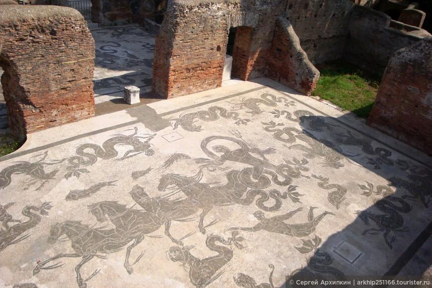 Мозаика дома ,по которой ходили древние римляне