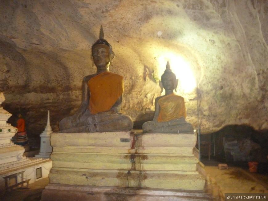 Посещение подземного буддйского храма.