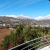 Вид на Сантьяго с высокой точки состоятельного района