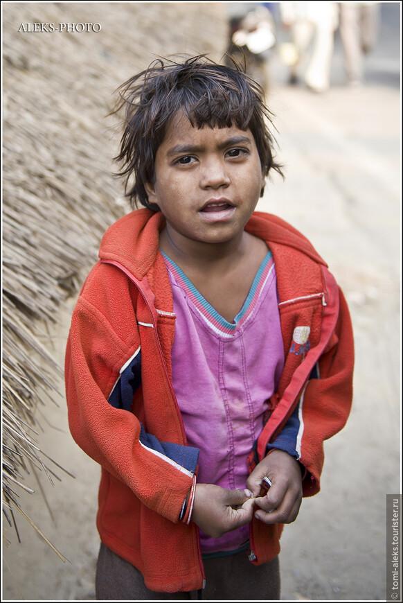 Вглядитесь в глаза этого мальчика. Скорее всего, он относится к низшим кастам. Но в его выразительном взгляде написано, что он тоже — человек! И мы протягиваем ему кусок хлеба. Иностранные туристы своими подачками не могут изменить многовековой уклад жизни этих людей...